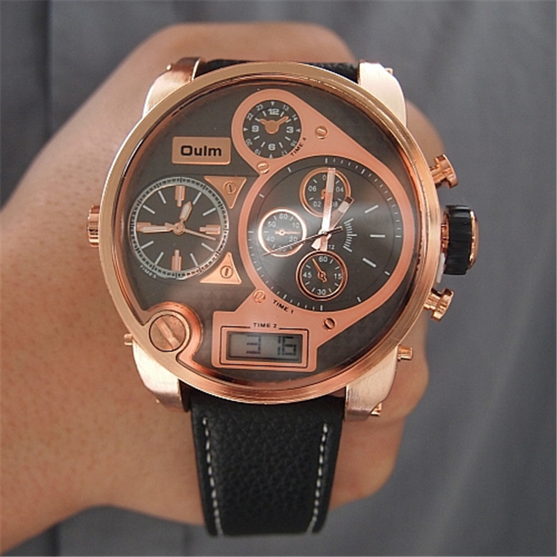 Men watches big oulm 9316b brand luxury design army japan movt quartz dz watch male sport for Celebrity quartz watch japan movt