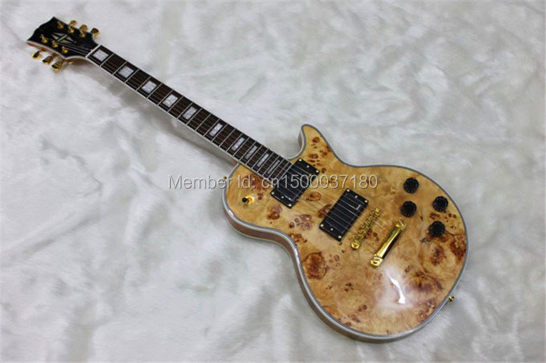 free shipping G LP electric guitar Golden accessories Burl leather cover can be customized(China (Mainland))