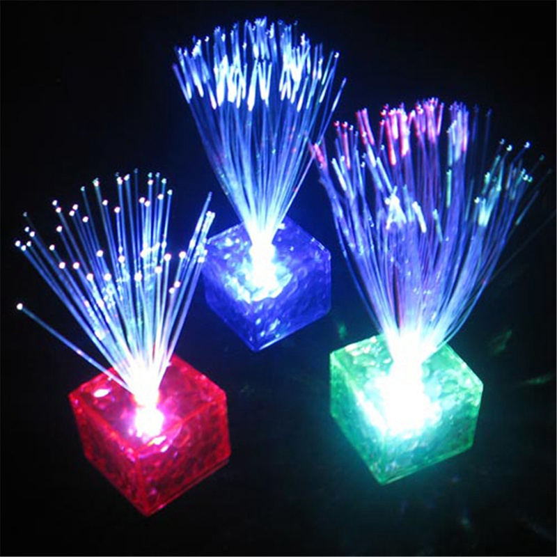 Colors Changing Optical Fiber Flashing Party Energy-saving LED Night Light Romantic Home Club Party Valentine's Day Gift(China (Mainland))