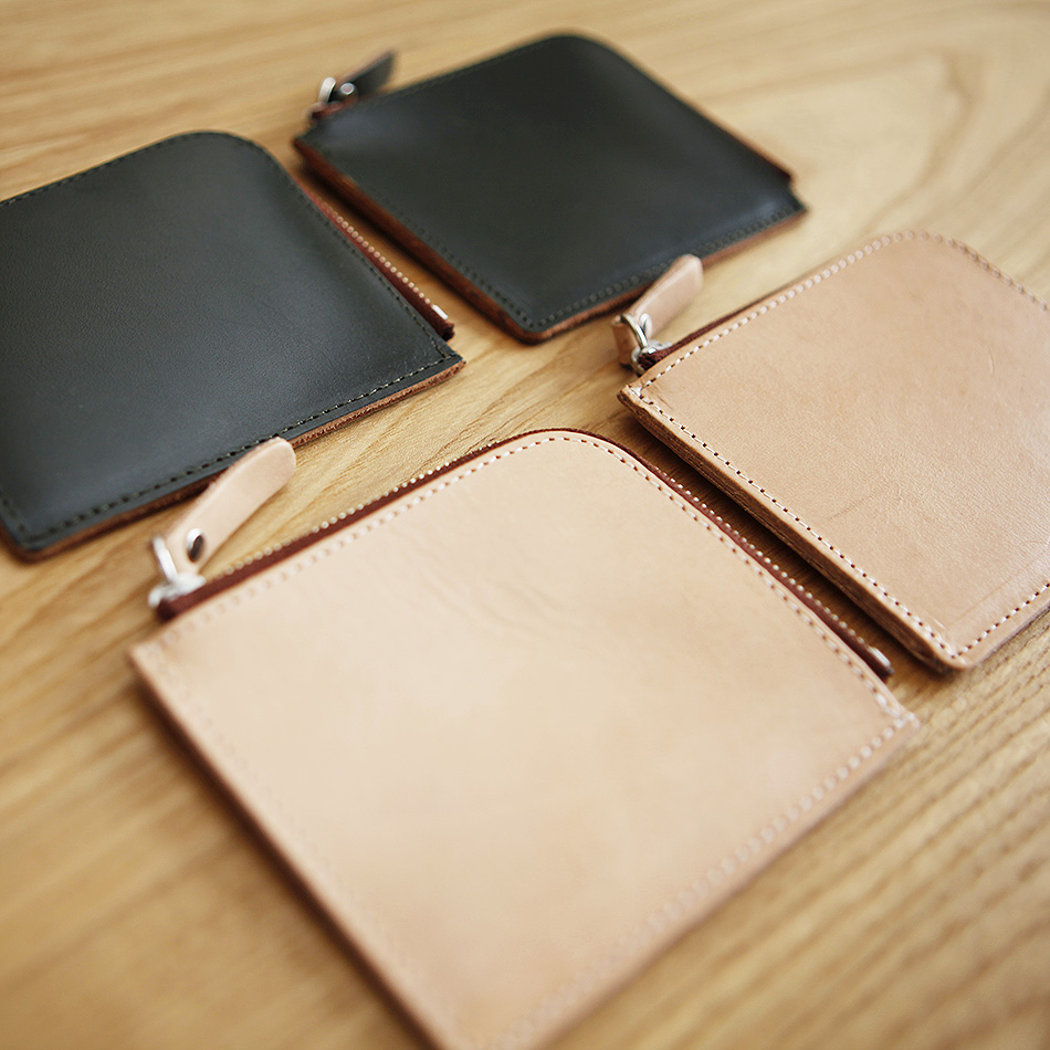 Men and women leather mini purse small purse handmade vegetable tanned leather zipper wallet(China (Mainland))