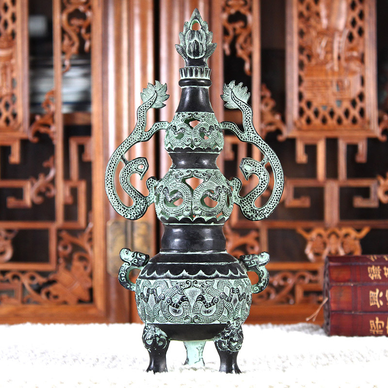Jishan Tang pottery ovens bronze incense burner antique copper cornucopia Buddhist supplies Home Decoration 0412(China (Mainland))