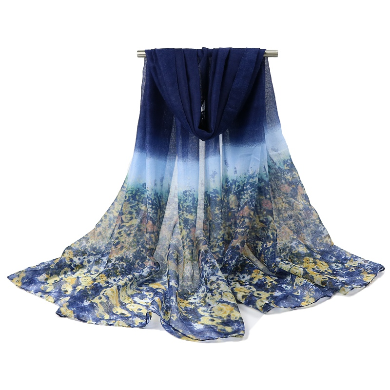 new 2015 shivering flower fashion brand scarf women spring and winter thin long scarves shawl cotton voile pashmina 180 * 95 CM(China (Mainland))
