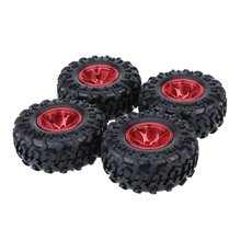 Buy 4Pcs 1/10 Monster Truck Tire Tyres Traxxas HSP Tamiya HPI Kyosho RC Model Car for $17.96 in AliExpress store