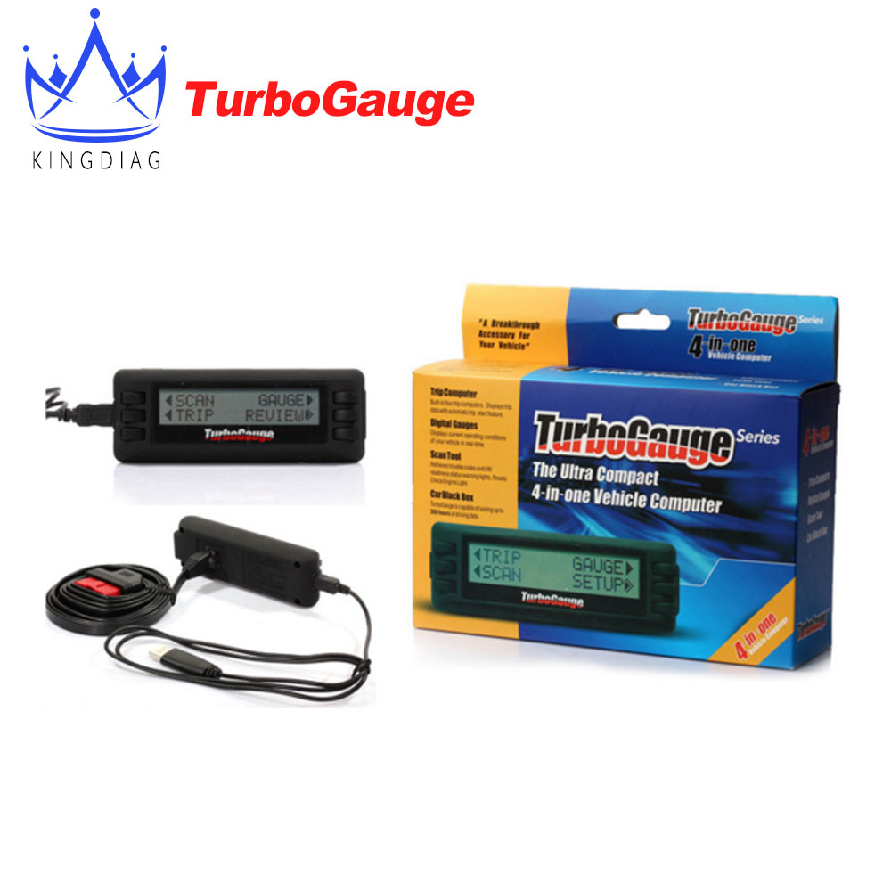 Turbogauge IV The ultra compact 4 in 1 Vehicle Computer OBDII/EOBD car trip computer Digital Gauges scan gauge car scan tool(China (Mainland))