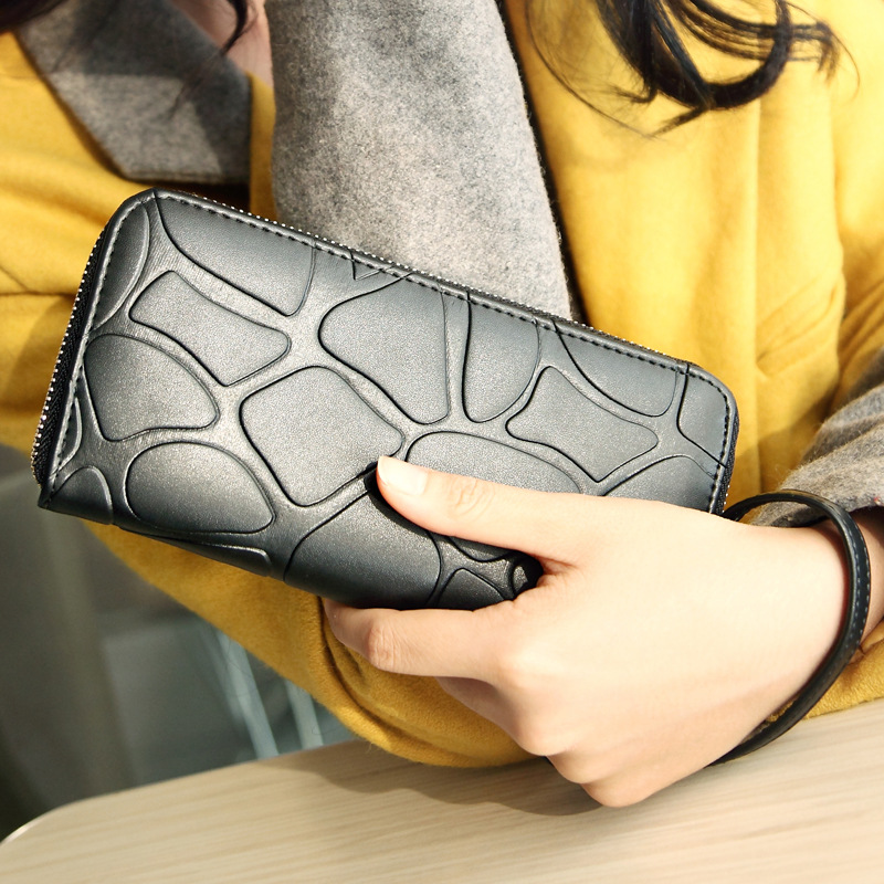 2015 Hot Fashion Women Wallets handbag solid PU Leather Long bag Portable black clutch Lady brand Cash phone card coin Purse<br><br>Aliexpress