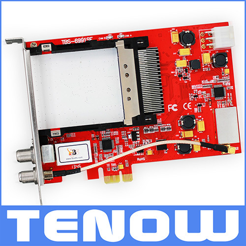 Original TBS Card TBS6991SE DVB-S2 Dual CI Dual Tuner PCIe TV Card,Watching and Recording Satellite TV/PayTV on PC(China (Mainland))