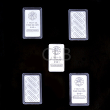 Wholesale 1 OZ Fine Silver Bar Plated Silver Bullion Bars with The Words of Engelhard Silver Bars for German Decor.(China (Mainland))