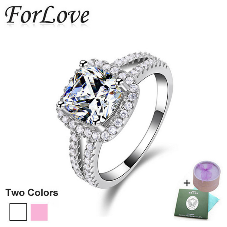 Real 925 Sterling Silver Ring Engagement O Finger anel aneis de diamante CZ Diamond for Women Wedding Jewelry Pure 100% b3 R1507(China (Mainland))