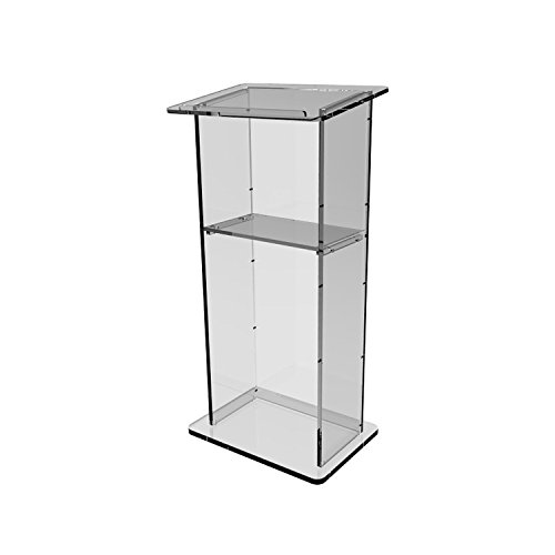 """Fixture Displays Clear Acrylic Lucite Podium Pulpit Lectern 46"""" Tall(China (Mainland))"""