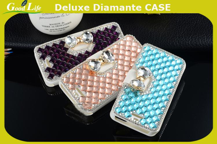 Bling crystal Case Back Cover mobile phone housing For MOTOROLA RAZR D1 rhinestone case(China (Mainland))