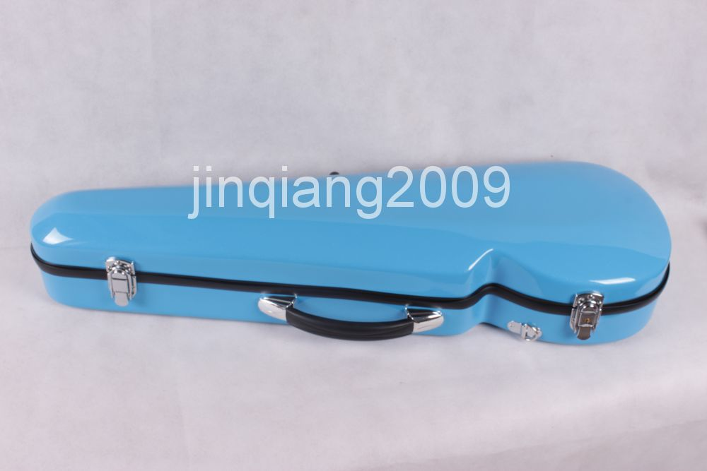 Фотография blue   4/4 Full size New Violin Case Glass Fiber Light Durable Black White Blue Red