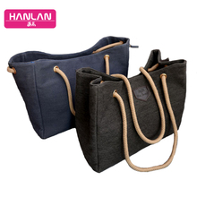 2016 New Women Large Capacity Handbags Fashion Simple Casual Canvas Package Ladies Shoulder Bag Lady Big