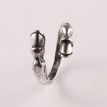 Fashion vintage horseshoe open rings for men women antique silver/bronze plated male female horse hoof animal ring jewelry