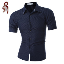 Buy HEYKESON Men Short Sleeve Shirt Male Shirts Men Shirt Brand 2017 Mens Dress Shirts Hawaiian Camisa Social Masculina XXXL for $9.06 in AliExpress store