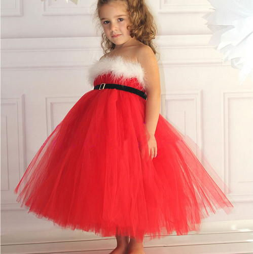 Hot Sale new Baby girls christmas dress wholesale fashion children white wool red yarn clothes girl pirncess party xmas dresses(China (Mainland))