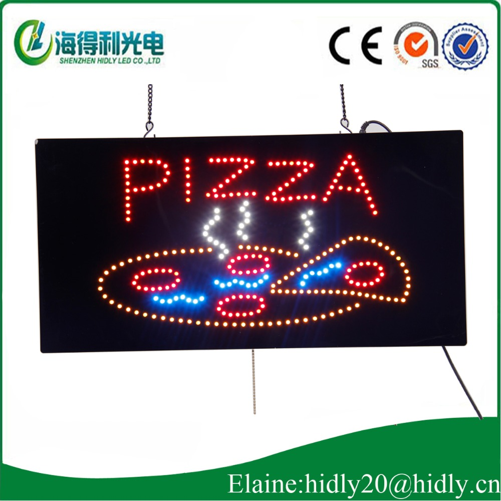 Fast food is special pizza advertising light-emitting electronic signature/9*19inch indoor window save electricity billboard(China (Mainland))