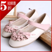 2013 spring child leather princess single shoes sweet gentlewomen girls bow shoes(China (Mainland))
