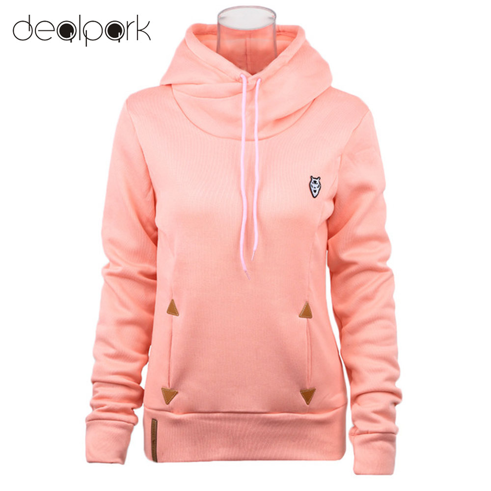 2016 Fashion Women Hoodie Sweatshirts Self-tie Pockets Pullover Hooded Loose Tops(China (Mainland))