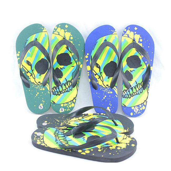 Skull Print Slip On Shoe