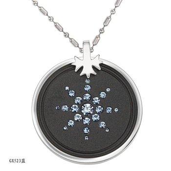 Free shipping fashion necklace Titanium steel Quantum pendants inlaid CZ. scalar energy pendant authenticity card care GX523b