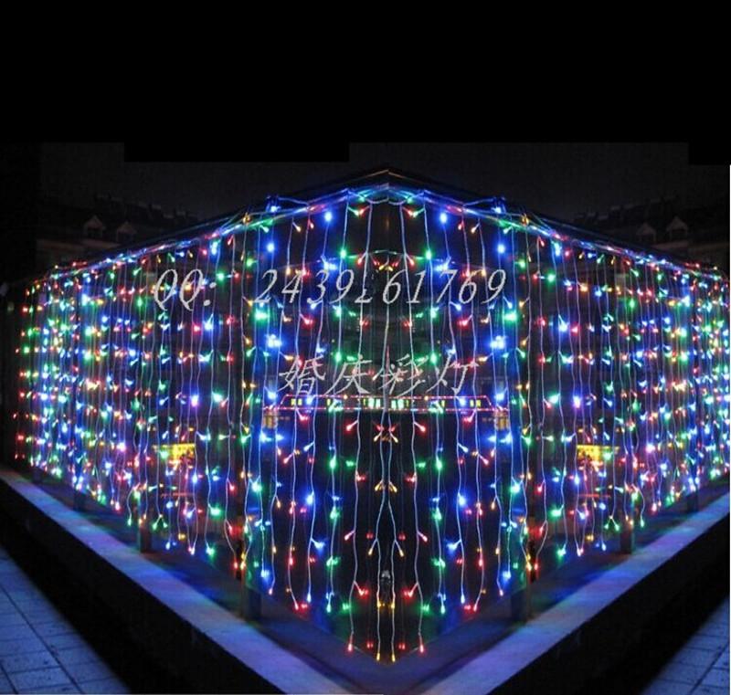 Hot Party Holiday Chandelier 448 LED Icicle Lights String 10*1M LED Luminous Lamps Christmas Decoration Light X'mas Illumination(China (Mainland))