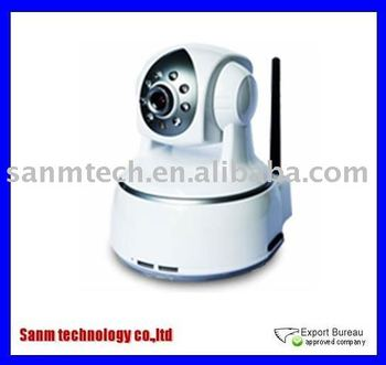 Wholesale and retail Wireless 3G CCTV camera with 8pcs Infrared LED,360 degrees rotation