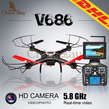 WLtoys JJRC V686G V686 5.8G FPV Headless Mode RC Quadcopter with Camera Monitor Rc Drone 2.0MP HD Camera RC helicopter(China (Mainland))