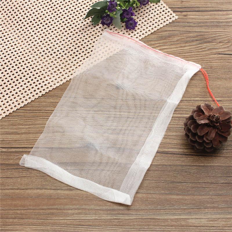 Nylon Mesh Drawstring Net Bag for Aquarium Filter Media Bio Ring Bio-Ball Carbon 15x25cm(China (Mainland))