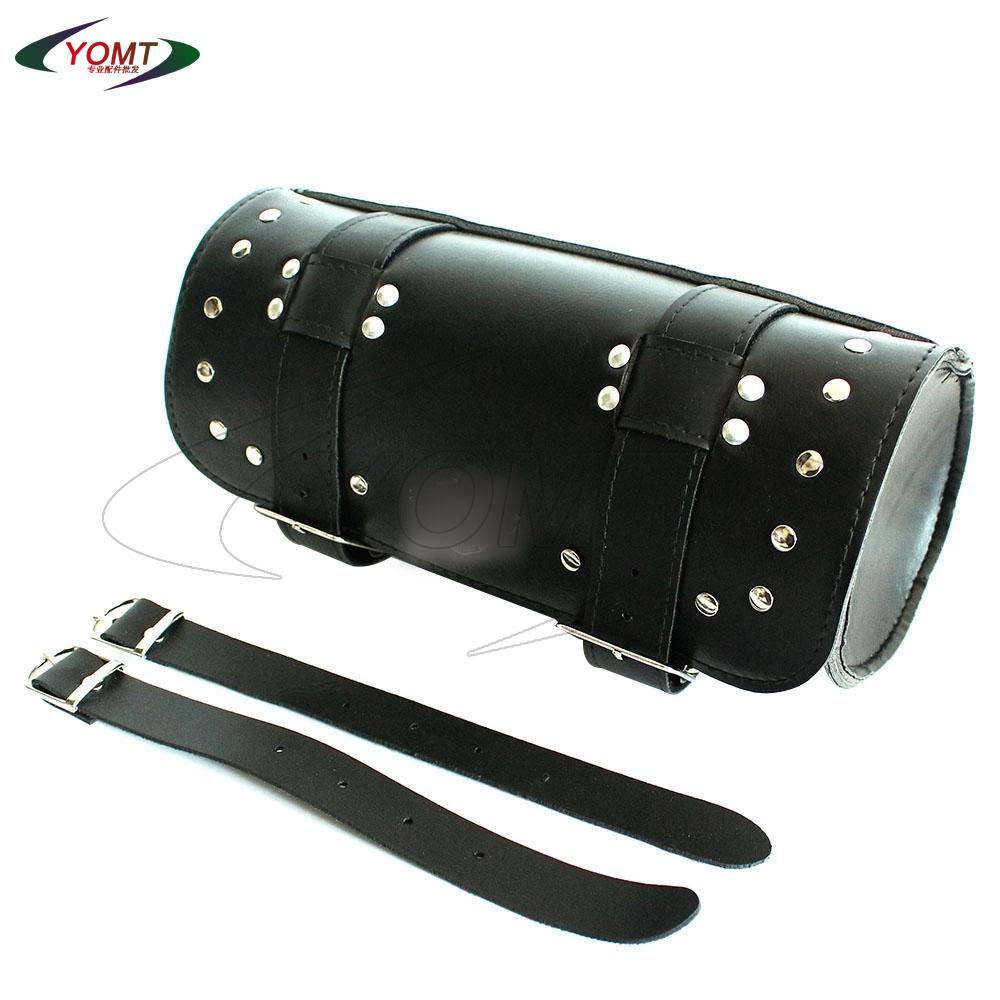YOMT - High Quality Scooter Front / Tail Forks Tool Bag Luggage Saddlebag Trunk Back seat bag For Harley YOMTrcycle Saddle Bag(China (Mainland))