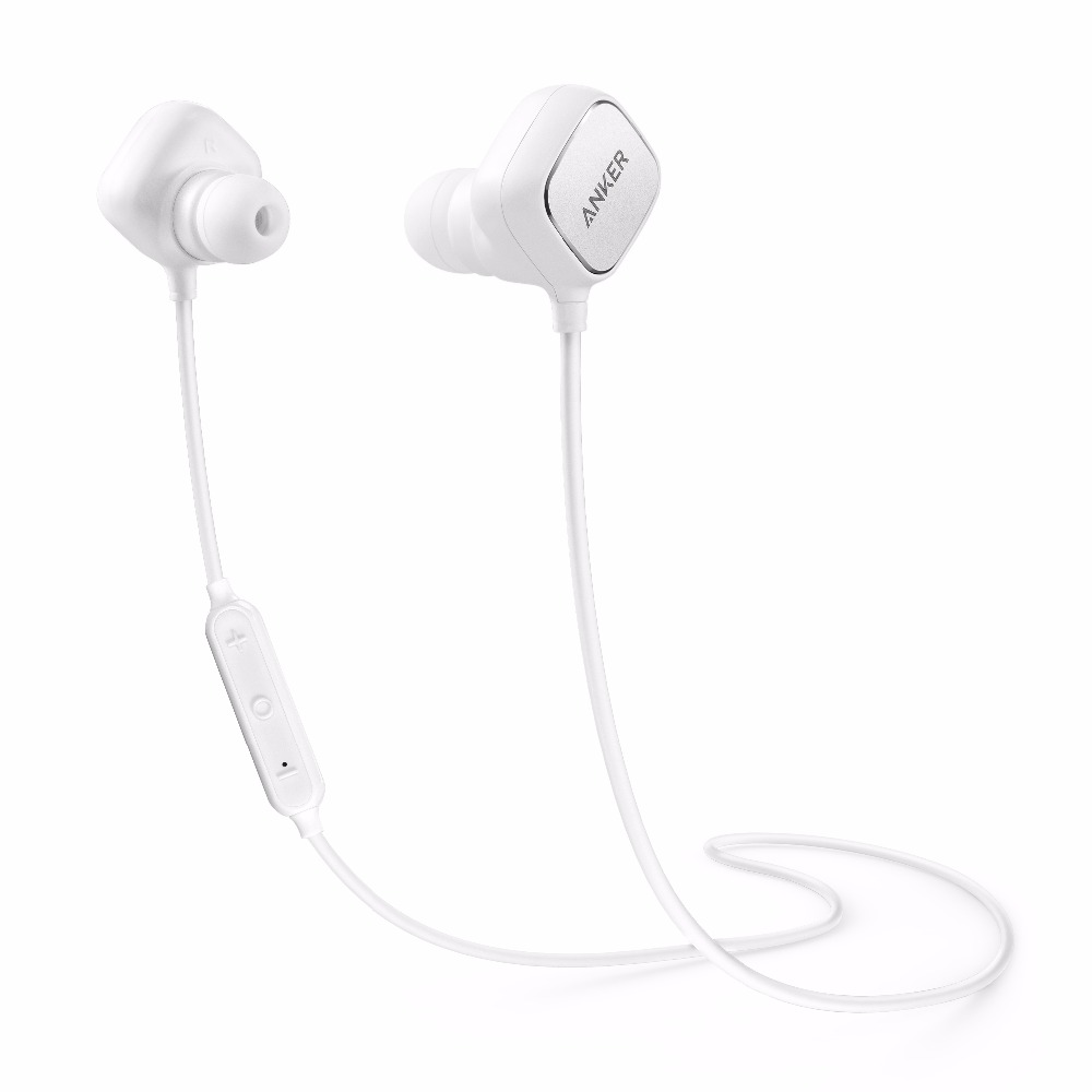Anker SoundBuds Sport IE20, In-Ear Bluetooth Earbuds with Smart Magnetic with AptX, CVC 6.0 Noise Cancellation, 8-Hour Playtime,(China (Mainland))