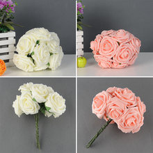 10 Heads Artificial Rose Flower Bridal Bouquet