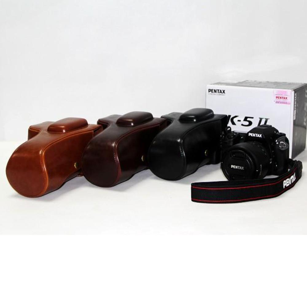 Good Quality Camera Bag Case For Pentax K-30 K-5II PU Leather Cover Holster Camera With Handbag
