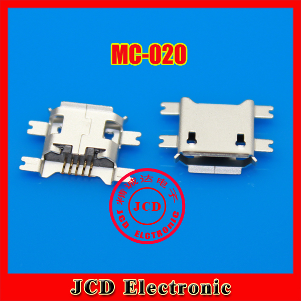 50pcs 5pin Female Micro USB Connector, SMD 4 Fixed feet, Widely used in tablet, phones and PDA(China (Mainland))
