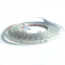 Buy AC 220V led strip light SMD5050 60leds/M IP67 Waterproof Led flexible Tape 1M/2M/3M/4M/5M/6M/7M/8M/9M/10M/50M/100M + Power Plug for $3.75 in AliExpress store