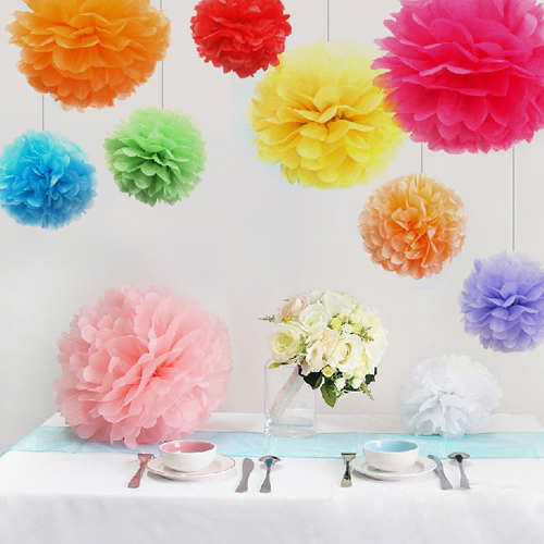 1PCS Big Size Tissue Paper Pom Poms DIY 14''(35CM) Wedding Party Decoration Paper Flower For Home Garden Wedding Car Decoration(China (Mainland))