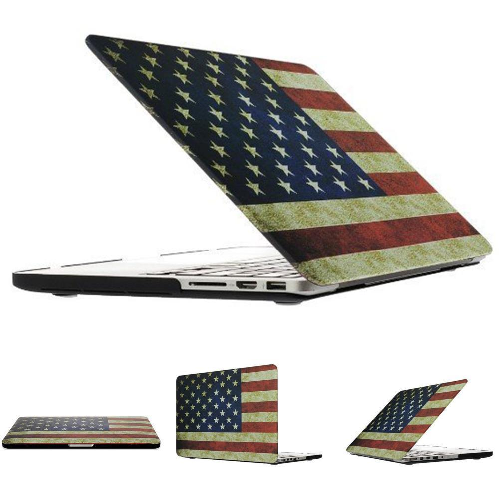 USA UK CA flag design Hard Plastic Case For Apple macbook Air 11.6 13.3/ Pro 13.3 15.4 Retina 13 15 inch Protector case(Hong Kong)
