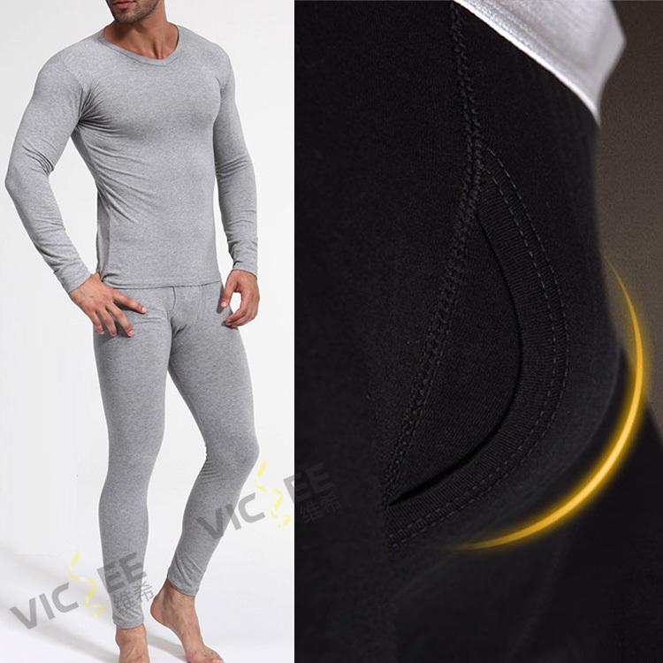 Winter Thermal Underwear Set High Quality Bamboo Fiber Long John Plus Size Men Winter Heated Underwear Leggings Thermal Clothing(China (Mainland))
