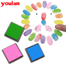 1PCS Cartoon DIY Finger Painting Drawing Toy Colored Craft Ink Pad Inkpad 15 Colors Rubber Stamps Homemade Drawing Toys(China (Mainland))