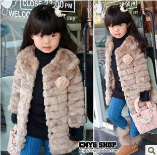 2016 New Brand girls winter coat high quality children's winter jackets girl fur coat kids warm down coat/down jacket for girl(China (Mainland))