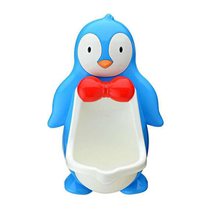 Cartoon Penguin Baby Potty Toilet Seat Urinals Boy Trainer Portable Potty Kids Boy Children Urinal Potty Training 2colors(China (Mainland))