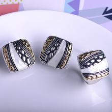 Exquisite Dubai Indian Jewelry Sets Bijuterias Max Brincos Big Ring Anel Anillos Shell Square French Hooks Brand Bijoux Woman(China (Mainland))