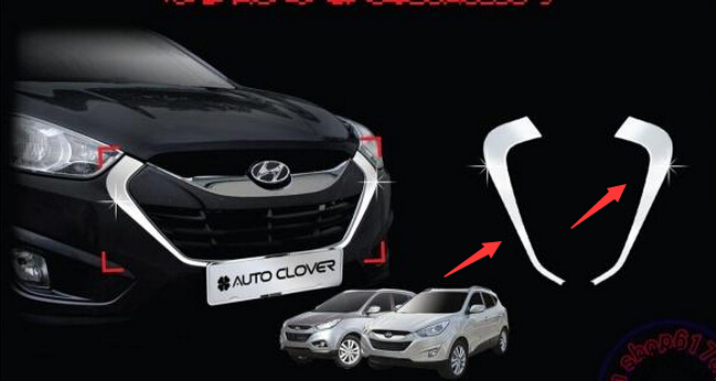 Free shipping 2010 20112012    Hyundai  ix35   front grille, front and rear decorative, fine barbecue season<br><br>Aliexpress
