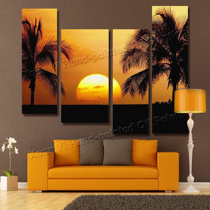 Comprar 4 panel modern pintados a mano - Pinturas paredes modernas ...