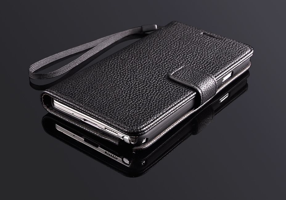 Sales Vintage Luxury PU Leather Flip Cover Case Samsung Galaxy Note 3 III N9000 N9002 N9005 Lithi Pattern Stand Wallets - Best Mall store