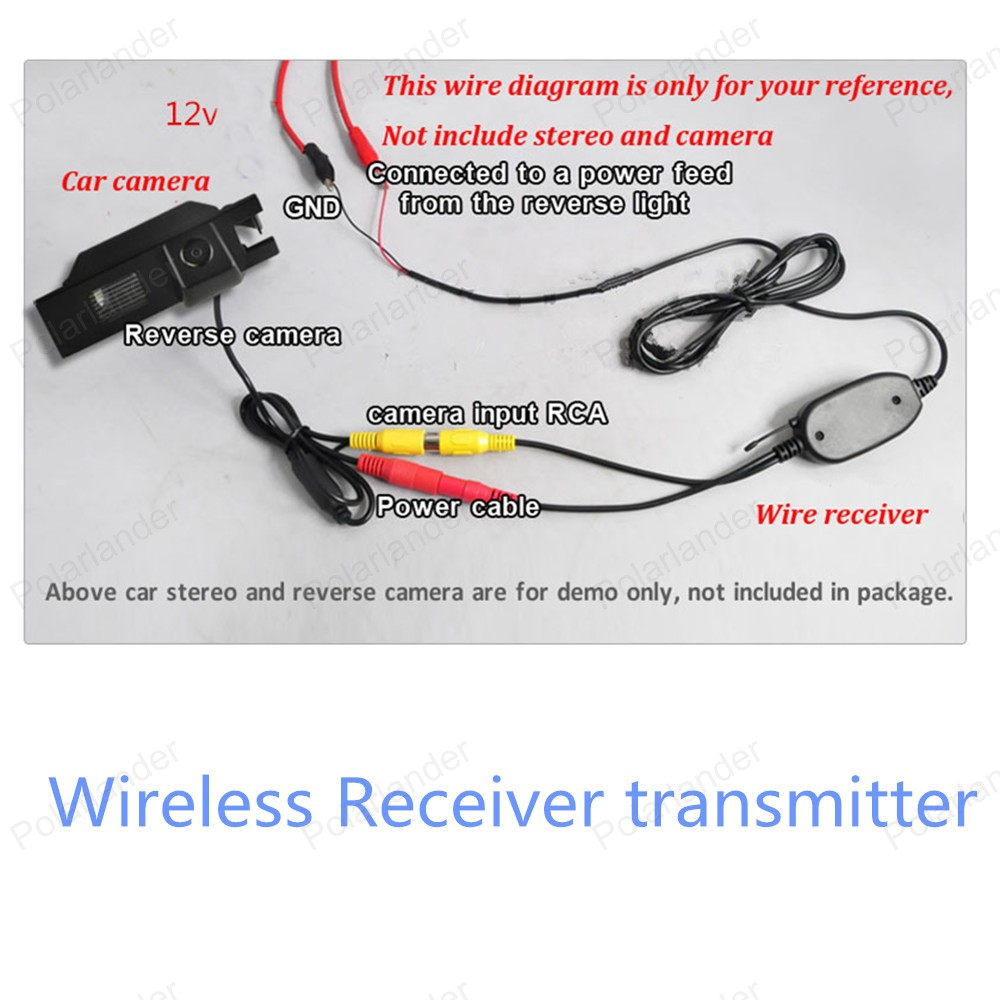2016 New 2.4 GHz Wireless Camera Video Transmitter and Receiver for Car Rear View Camera(China (Mainland))