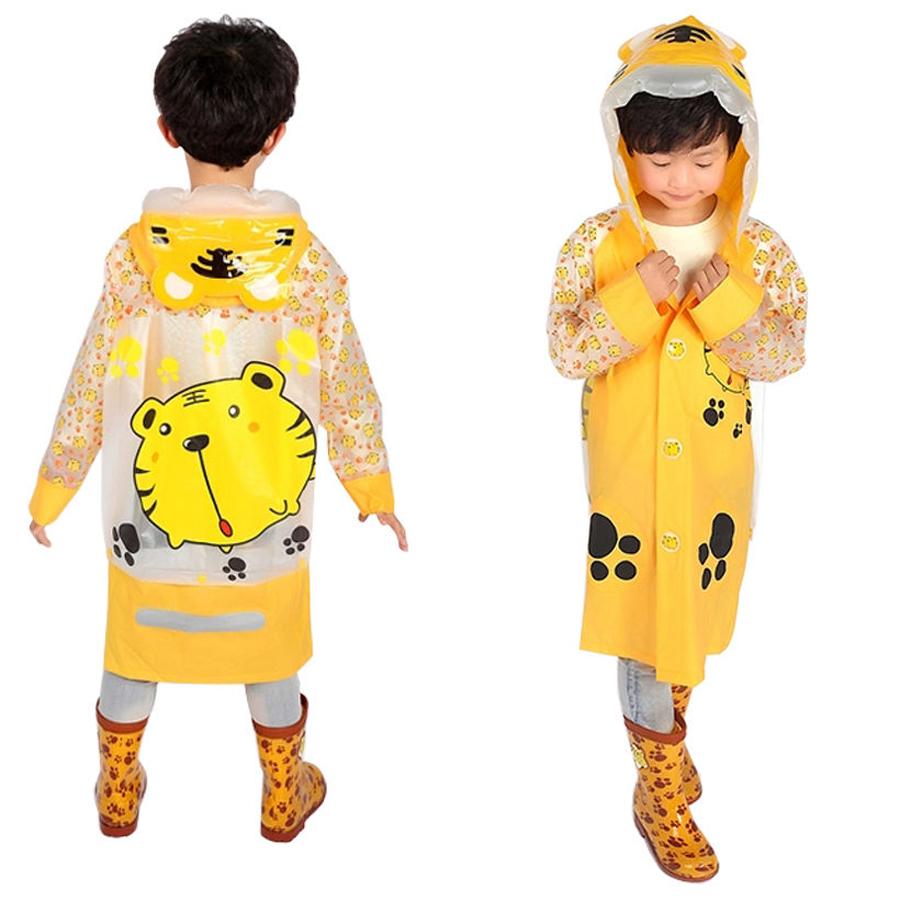 Funny Raincoat Baby Children Cartoon Kids Girls boys Cartoon Rain Coat Waterproof Hiking Rainwear Waterproof Rainsuit(China (Mainland))