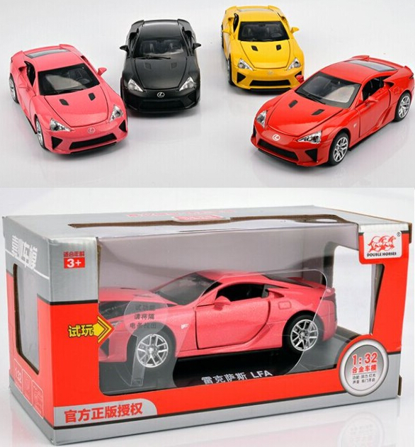 Original Box Pull Back car Toys for 1:32 Lexus Diecast Car Models Sounds Car Toys Vehicles Hobbies Educational New(China (Mainland))