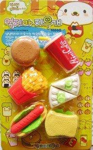 free shipping Wholesale 10set/lot Coke rubber / Simulation rubber / cartoon rubber / removable rubber / rubber food erase