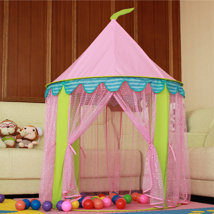 The girl Princess Castle children tent oversize Tulle lace mosquito game house<br><br>Aliexpress