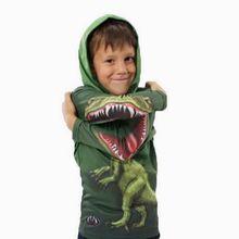 3~10 age Coats for children hoody baby & kids 2014 new boy Hoodies & Sweatshirts 3D dinosaur boys t shirt fun boys hoodies C050(China (Mainland))